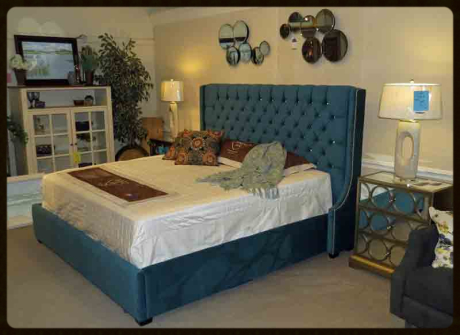 Several bed styles available in your choice of fabrics and leathers with 5 finish options at no extra charge.